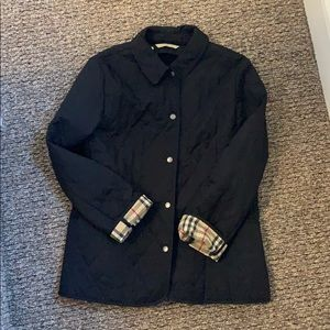 Black Burberry Diamond Quilted Jacket